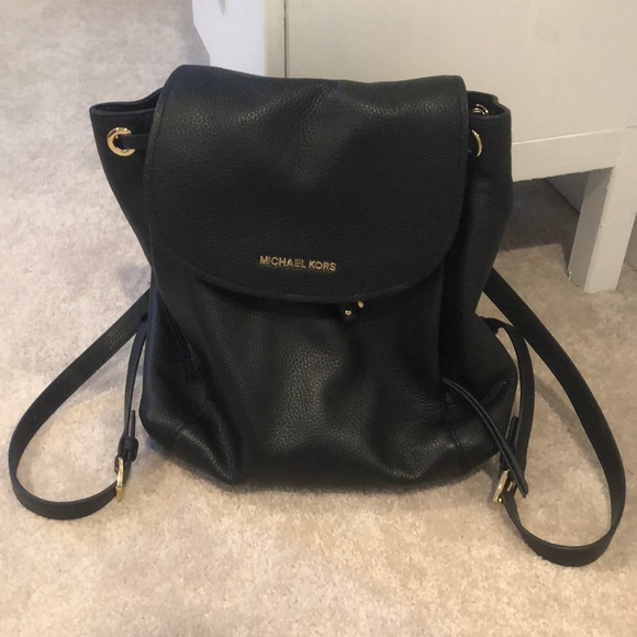 67ed76f71ac816 Michael Kors Bags | Riley Black Leather Backpack | Poshmark